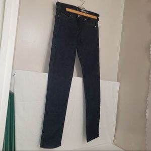 H&M Unwashed Denim Recycled Fibre Slim Leg Jeans